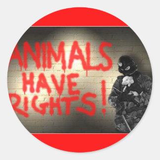 Animals Have Rights! Round Sticker