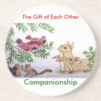 animals in snow, The Gift of Each Other, Compan... Drink Coasters