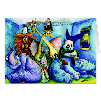 animals in the bedroom card