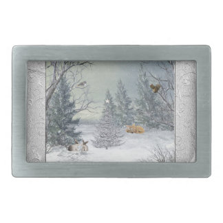 Animals in the Winter Forest, Tree with Star, Star Belt Buckles