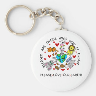 Animals Love Our Earth Keychains