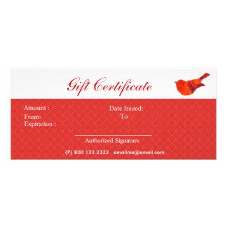 Animals Lovely Red Little Bird Rack Card