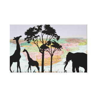 Animals Of Africa Canvas Print