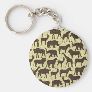 Animals of Africa Keychain