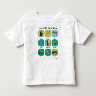 Animals of Africa Toddler T-Shirt