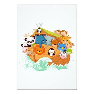 Animals On Noahs Art Invitations