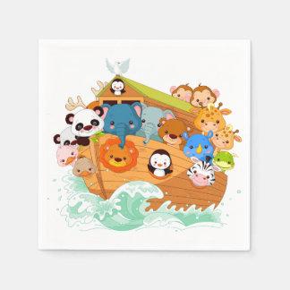 Animals On Noahs Art Paper Napkins