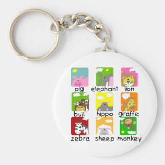 Animals on Parade Tshirts and Gifts Key Chain