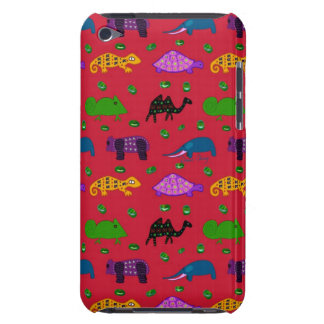 Animals - Purple Turtles & Blue Elephants iPod Touch Cover