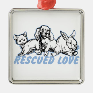 Animals Rescued Love Christmas Tree Ornaments