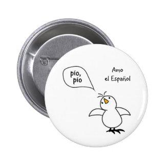 Animals Speak Spanish Too! Merchandise 6 Cm Round Badge