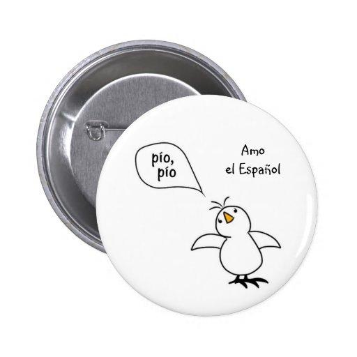 Animals Speak Spanish Too! Merchandise Pins