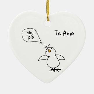 Animals Speak Spanish Too! Merchandise Ceramic Heart Decoration