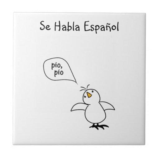 Animals Speak Spanish Too! Merchandise Ceramic Tiles