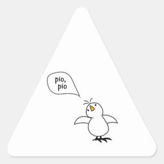 Animals Speak Spanish Too! Merchandise Triangle Sticker