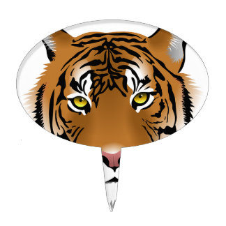 Animals Stripes Tiger Zoo Nature Jungle Safari Art Cake Picks