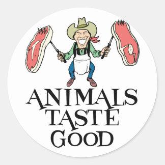 Animals Taste Good Classic Round Sticker
