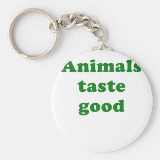Animals Taste Good Keychain