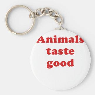 Animals Taste Good Keychains