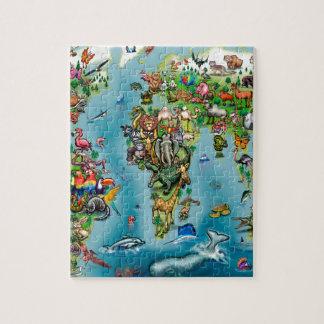 Animals World Map Jigsaw Puzzle