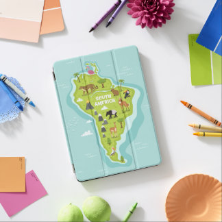 Animals World Map of South America For Kids iPad Air Cover