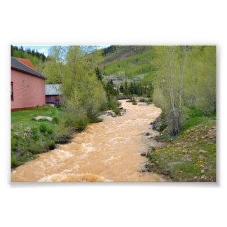 Animas River in Silverton, Colorado Photo