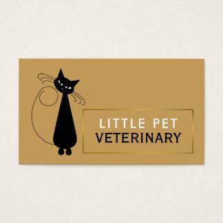 Animated Black Cat, Veterinarian, Veterinary Business Card