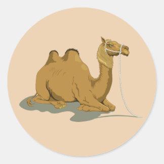 Animated Camel Round Sticker