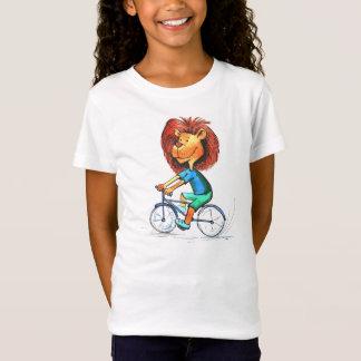 Animated Cyclist Lion Bike Ride T-shirt