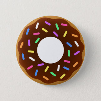 Animated Donut  Design 6 Cm Round Badge