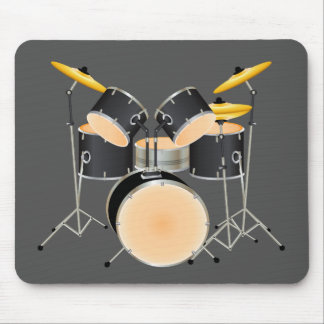 Animated drum set mouse pad