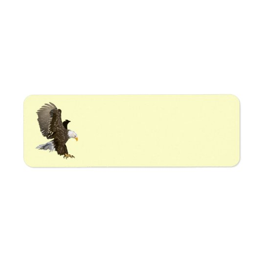 Animated Eagle Return Address Label