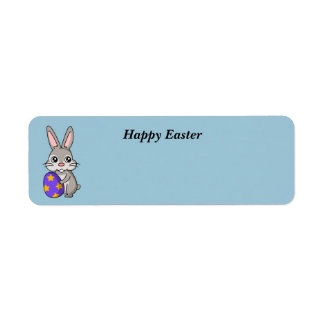 Animated Easter Bunny label