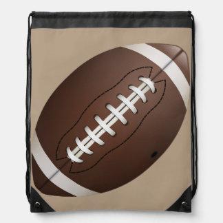 Animated Football Drawstring Backpacks