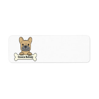 Animated French Bulldog Return Address Label