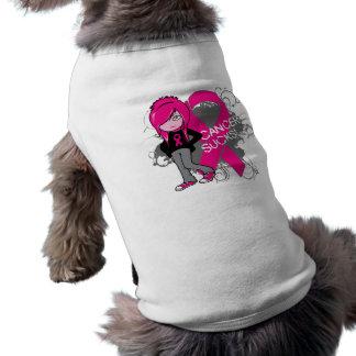 Animated Girl Breast Cancer Sucks Sleeveless Dog Shirt