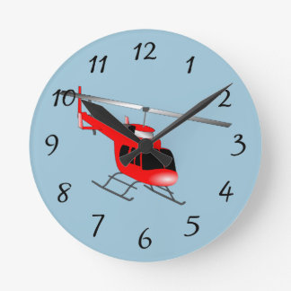Animated Helicopter Round Clock