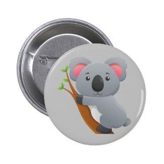 Animated Koala Bear 6 Cm Round Badge