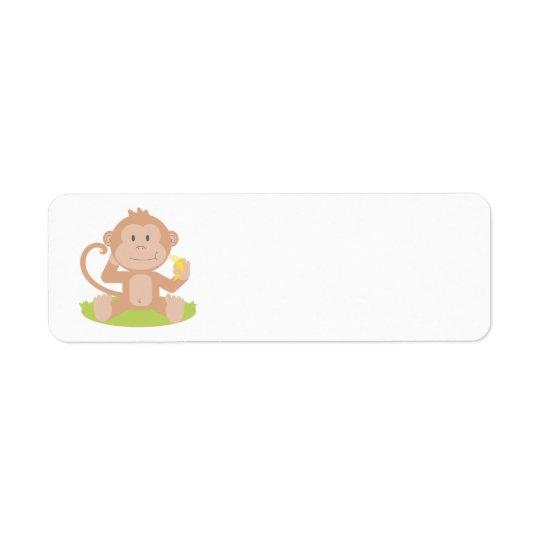 Animated Monkey Return Address Label