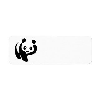 Animated Panda Bear Return Address Label