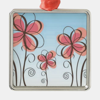 animated-pink-flowers-vector christmas tree ornament