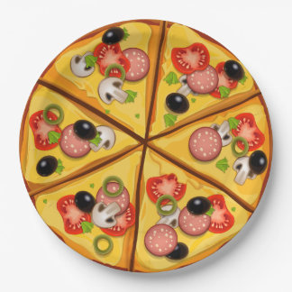 Animated Pizza pie background Paper Plate