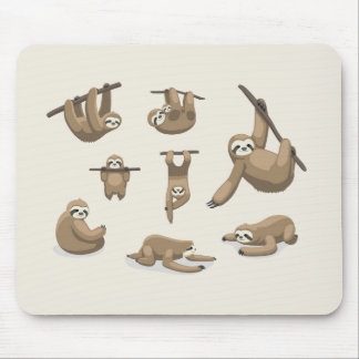 Animated Sloths Mouse Pad