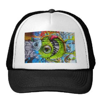 Animated Street art Mesh Hats
