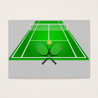 Animated Tennis Court and rackets Business Card