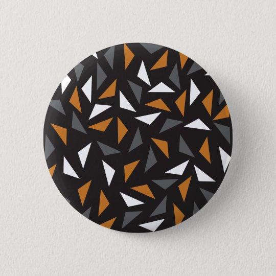 Animated triangles 6 cm round badge