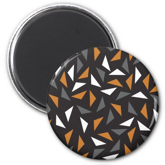 Animated triangles 6 cm round magnet