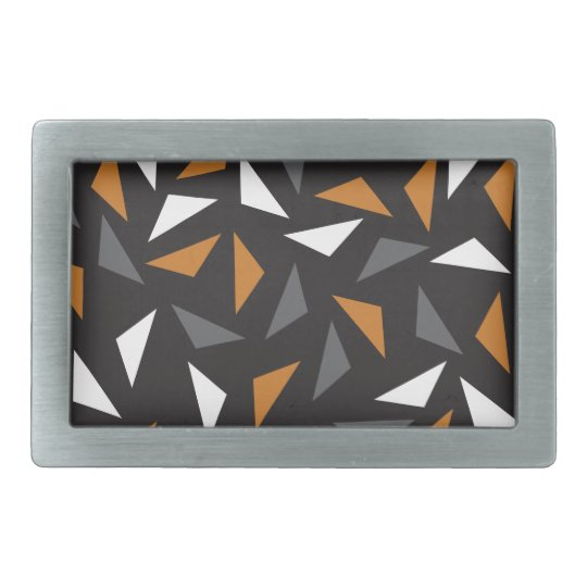 Animated triangles belt buckles