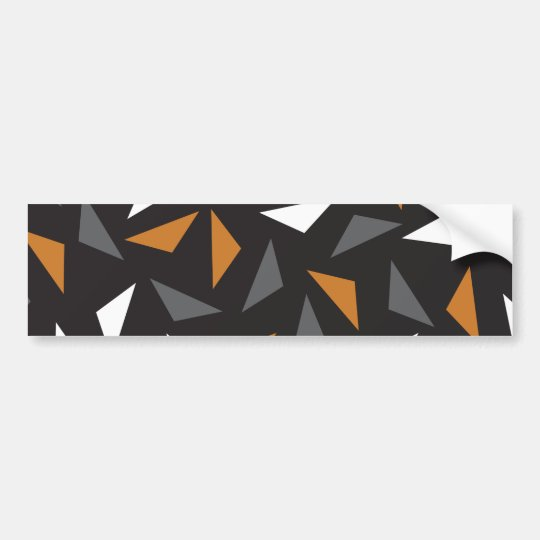 Animated triangles bumper sticker