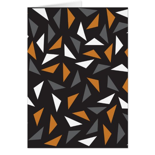 Animated triangles card
